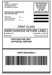 Usps Return Label >> Returns And Exchanges Processing Shipvine